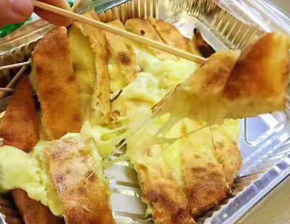 网红芝士火龙果饼